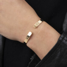 Ilsa 18K Gold Plated Open circle gold plated bracelet