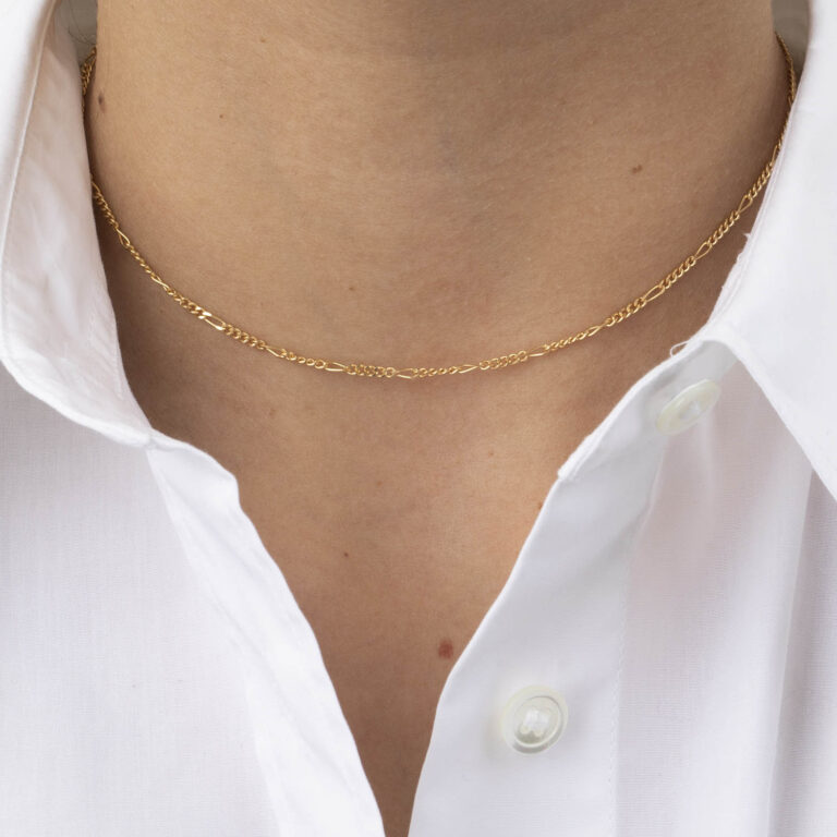 Karles 18K Gold Plated choker schakel gold plated ketting