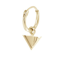 Fafnir 18K Gold Plated Cirkel ring met driehoek hanger gold plated oorbel