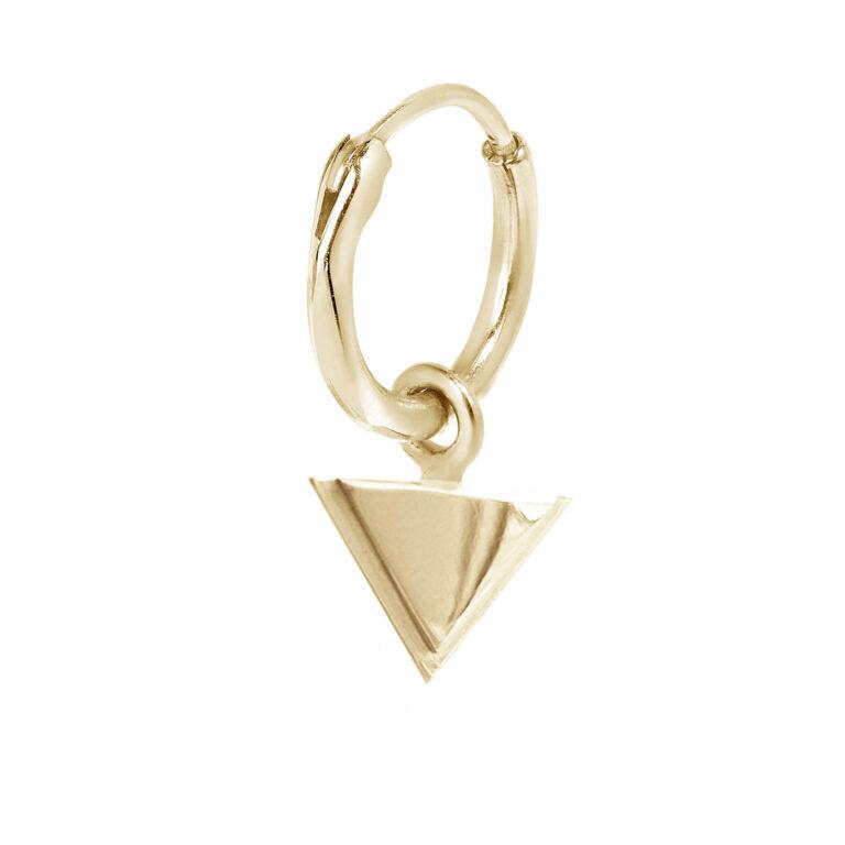 Fafnir 18K Gold Plated Cirkel ring met driehoek hanger gold plated oorbel
