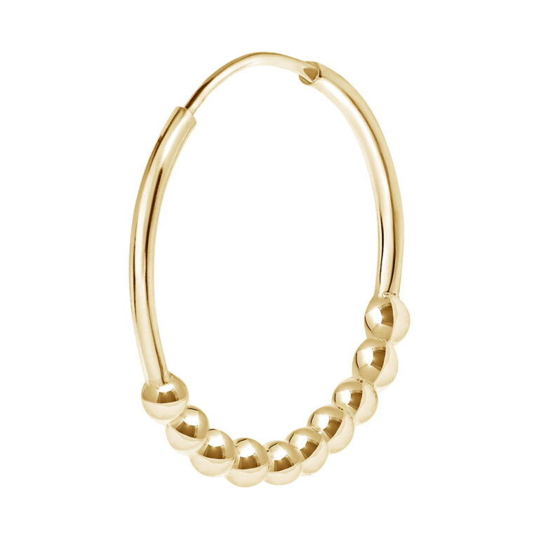 Yasha 18K Gold Plated Smooth and bobble texture ring gold plated earring