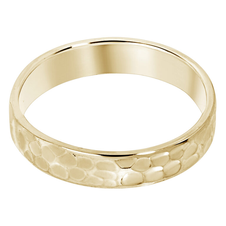 Gouden gehamerde ring