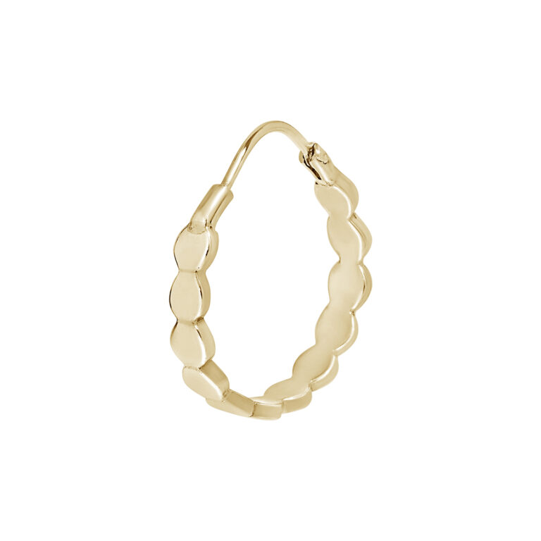 Gouden oorbel met ronde items