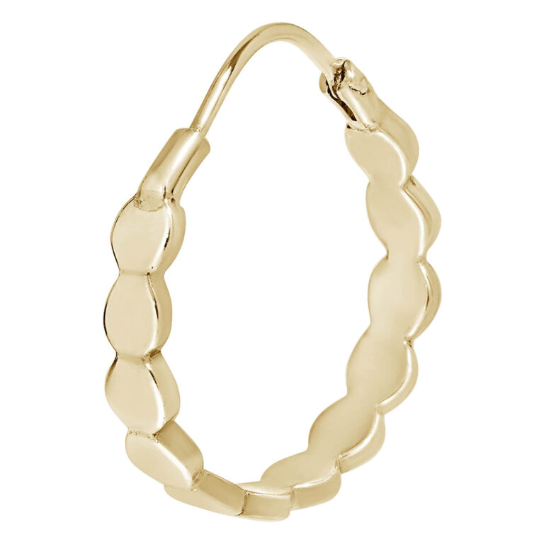 Finne M 18K Gold Plated Wavy circle ring gold plated earring