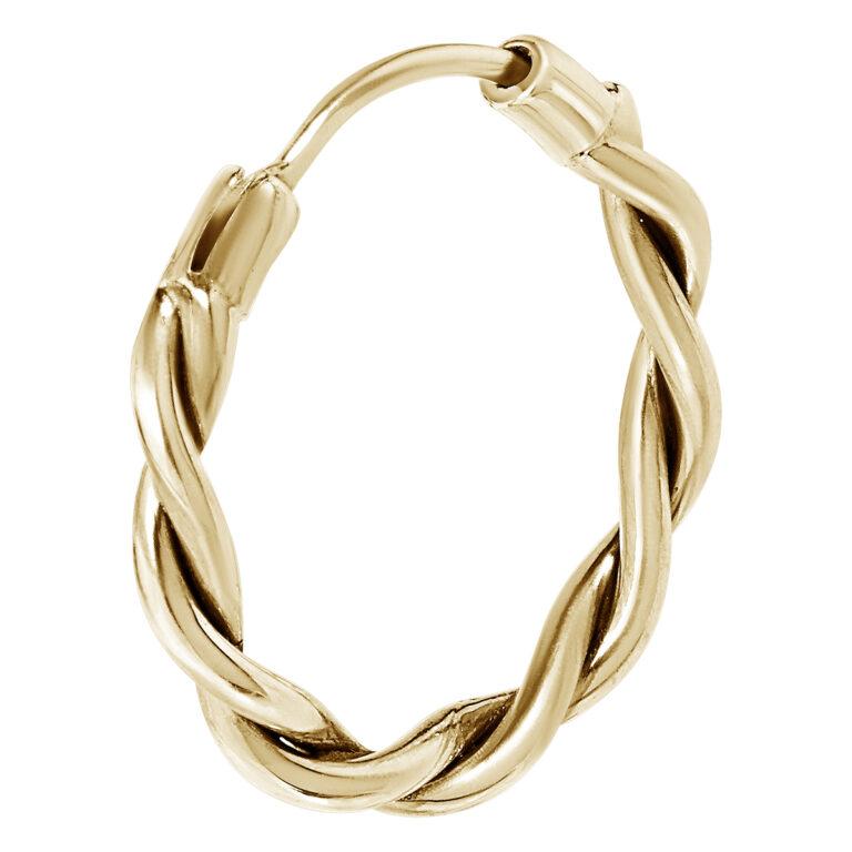 Gewikkelde gouden oorbel