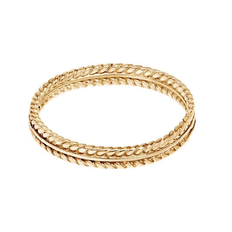 Gouden ringen met gevlochten randen