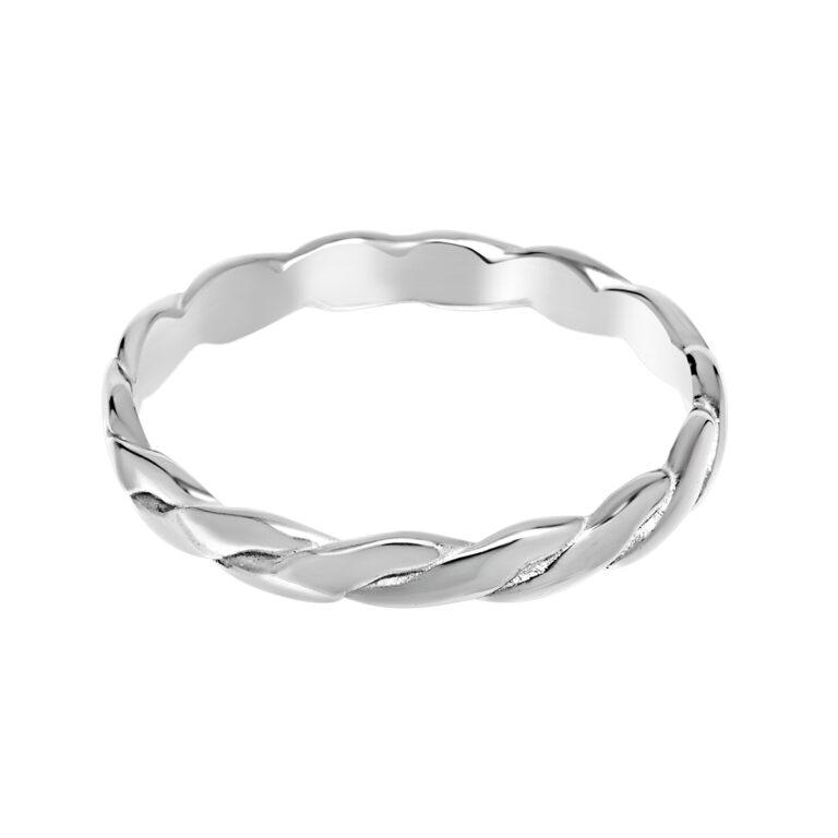 Gevlochten zilveren ring
