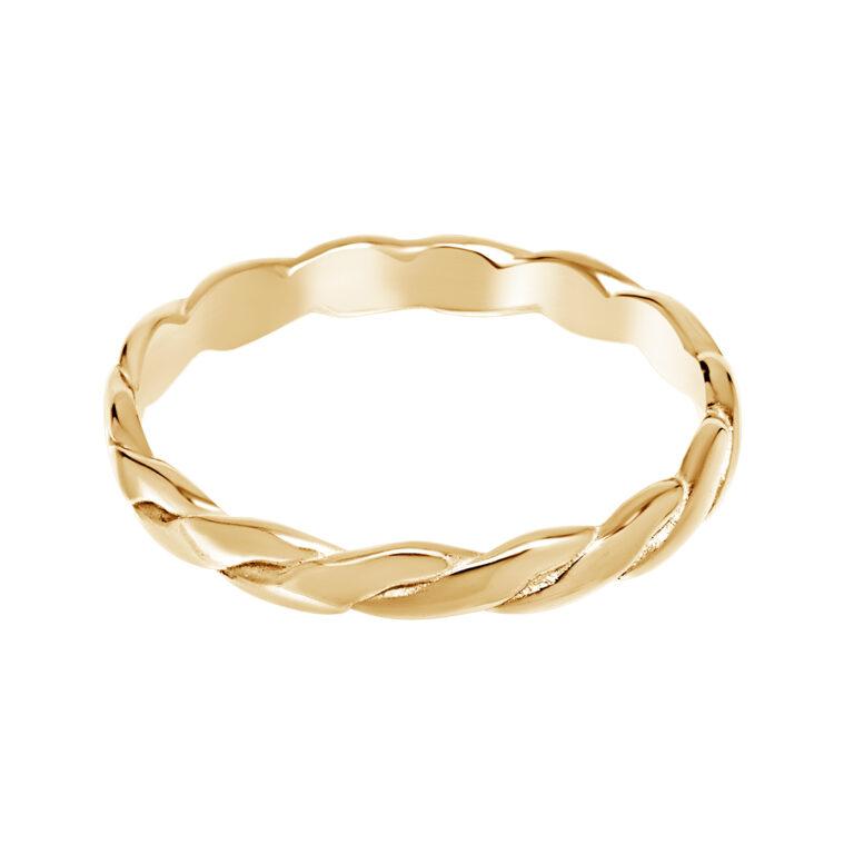 Gevlochten gouden ring