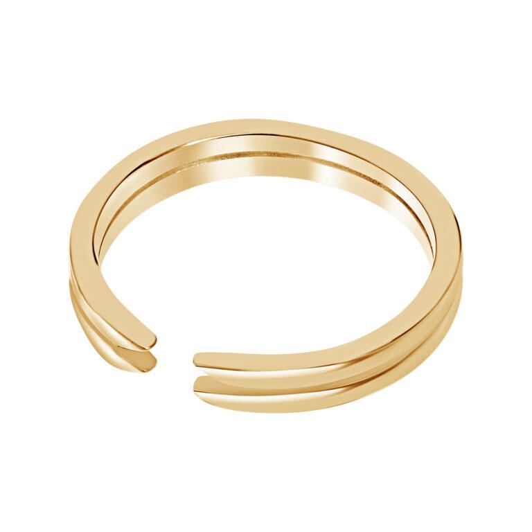 Dubbele gouden ring met opening