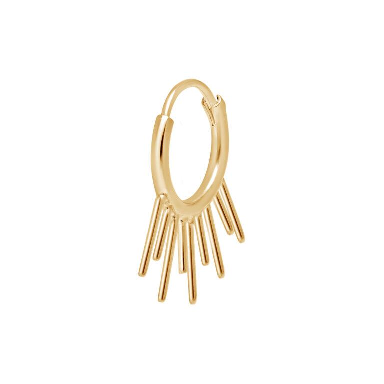 Gouden oorbel met spikes