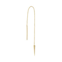 Kelsey 18K Gold Plated Long pointy pull through gold plated earring