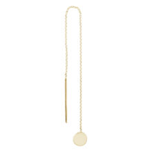 Loulou 18K Gold Plated Long pull through circle star pendant gold plated earring