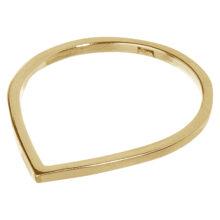 Druppel vorige gouden ring