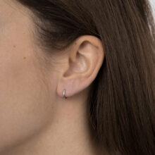Zilveren basis oorbel ring