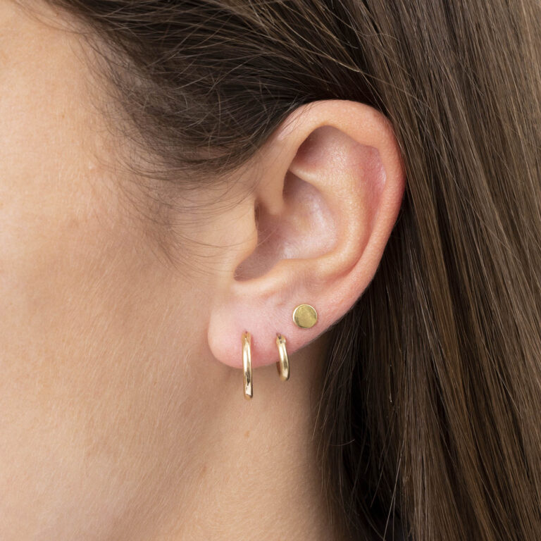 Rosalynn 18K Gold Plated Round micro stud gold plated earring