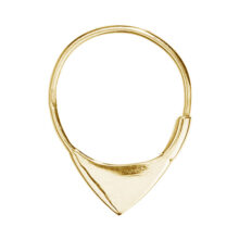 Mijs 18K Gold Plated Triangular edged circle gold plated earring