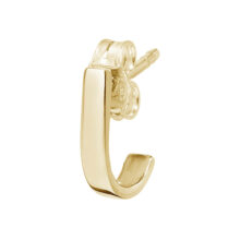 Roqi 18K Gold Plated Kleine curve halve hoepel gold plated oorbel