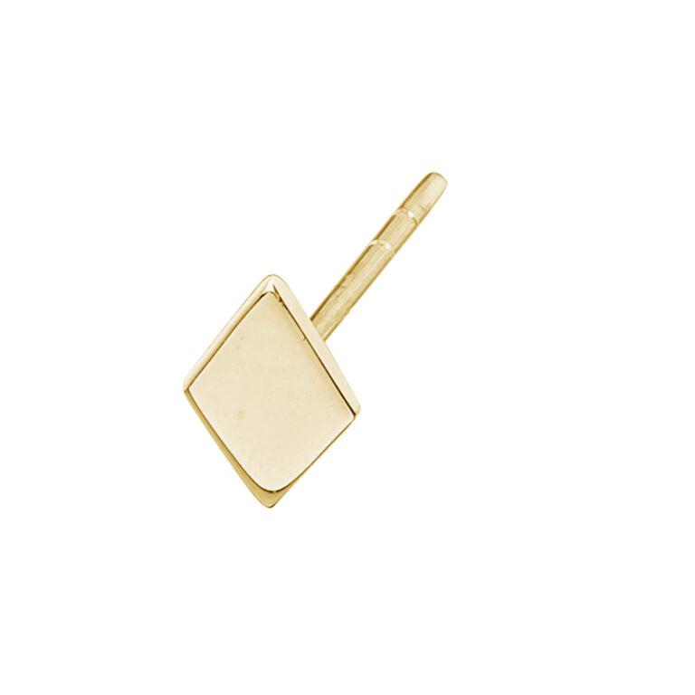 Lis 18K Gold Plated Ruitvormige stud gold plated oorbel