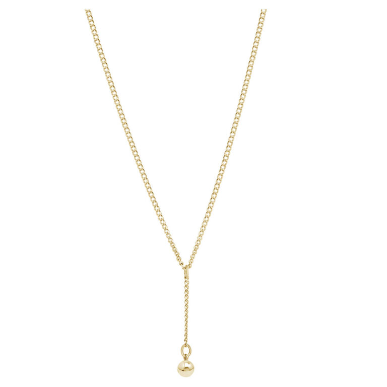 Wilka 18K Gold Plated Y ball hanger gold plated ketting
