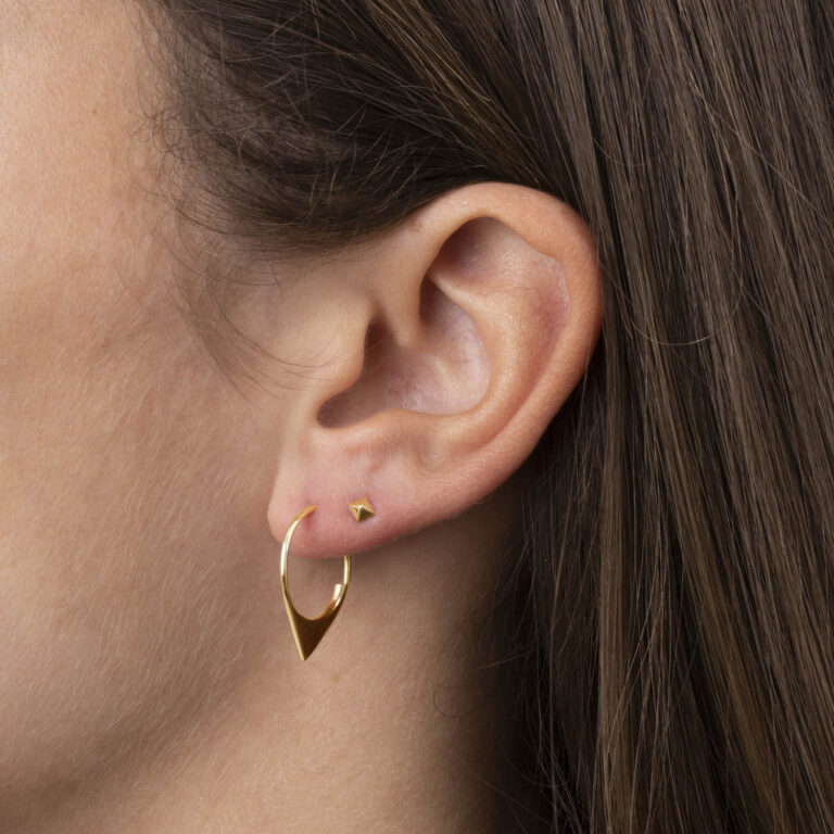 Thisbe 18K Gold Plated Pyramid stud gold plated earring