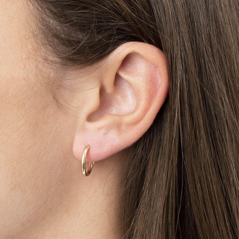 Uma 18K Gold Plated Cirkel gold plated oorbel