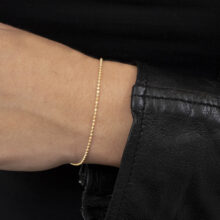 Celli 18K Gold Plated Thin minimal gold plated bracelet