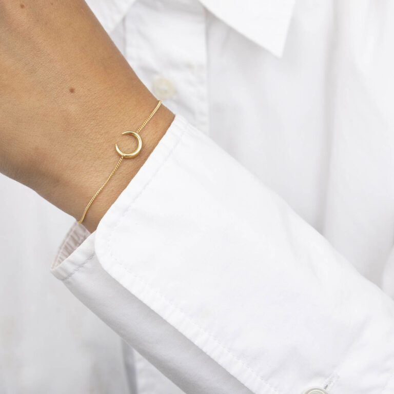 Birgir 18K Gold Plated Open cirkel gold plated armband