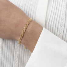Dee 18K Gold Plated 3 laags balletjes gold plated armband