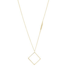 Dara 18K Gold Plated Ruitvormige hanger gold plated ketting