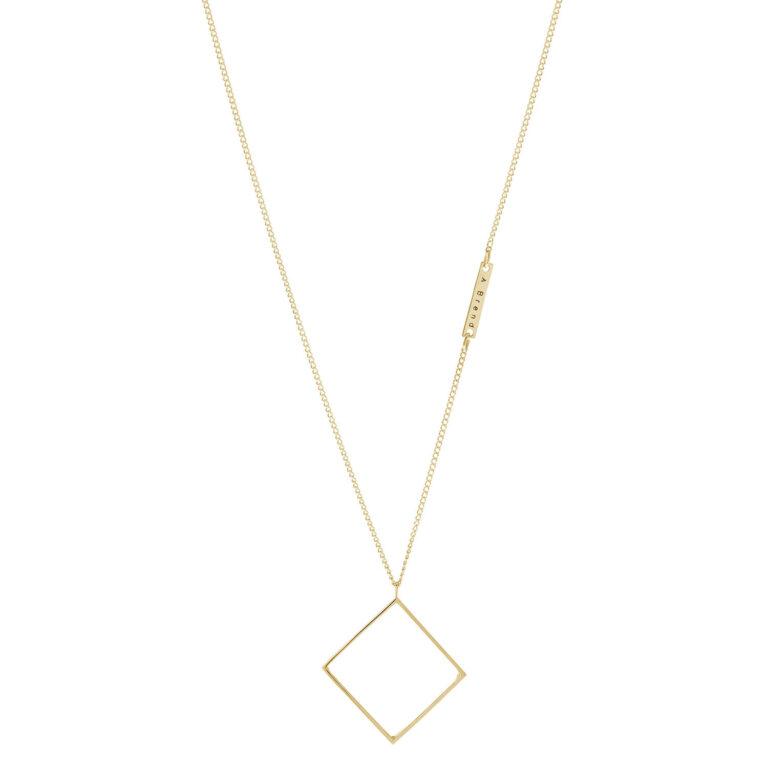 Dara 18K Gold Plated Ruitvormige hanger gold plated ketting