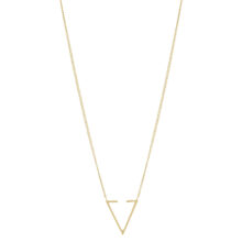 Stia 18K Gold Plated Open driehoek gold plated ketting