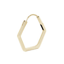 Cadby 18K Gold Plated 5 square gold plated earring