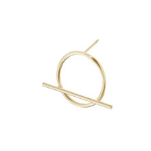 Darine 18K Gold Plated Circle and bar gold plated earring