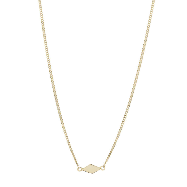 Inyx 18K Gold Plated Ruitvormige hanger gold plated ketting