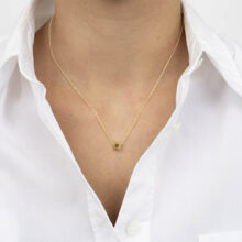 Iria 18K Gold Plated Vierkante hanger gold plated ketting