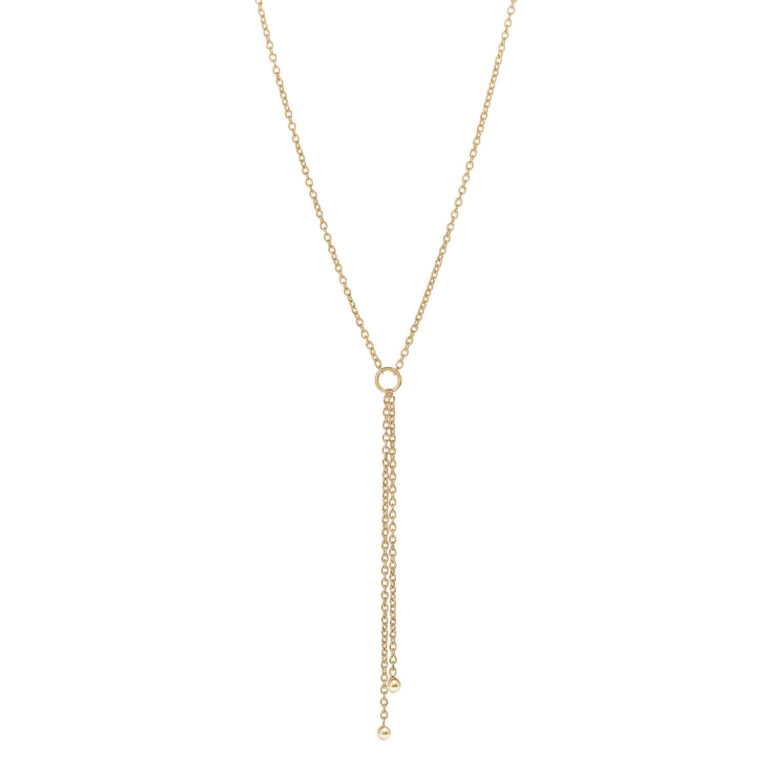 Jokko 18K Gold Plated Open cirkel Y gold plated ketting