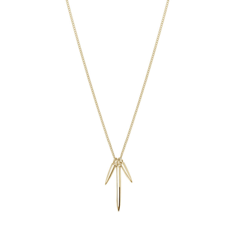 Keke 18K Gold Plated 3 ijspegel hanger gold plated ketting