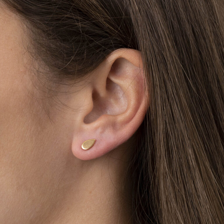 Nima 18K Gold Plated Tear-drop stud gold plated earring