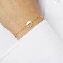 Laia 18K Gold Plated Half open circle thin gold plated bracelet