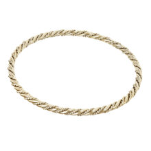 Nais 18K Gold Plated Ronde gedraaide textuur gold plated armband
