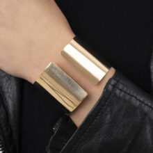 Nere 18K Gold Plated Dikke half open gold plated armband