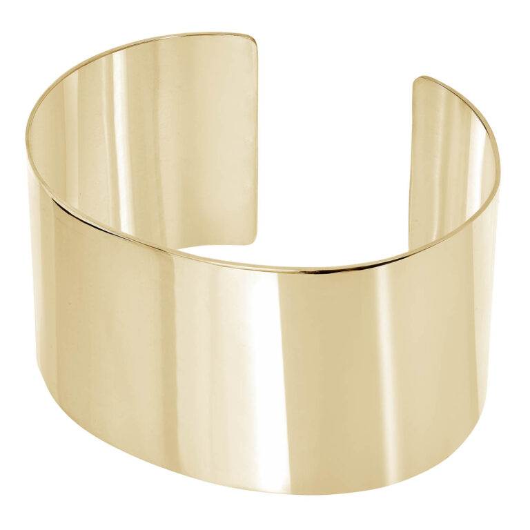 Nere 18K Gold Plated Thick half open gold plated bracelet